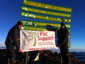Fundraising challenges Kilimanjaro