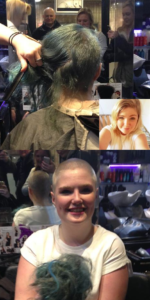 Chloe shaved off her hair for PSC Support!