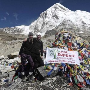 Laura and Sophie at Everest Base Camp