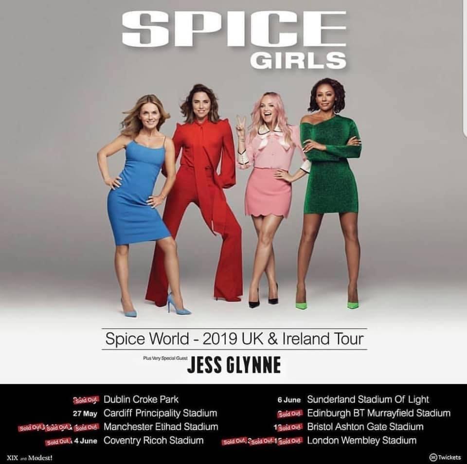 spice girls tour tickets