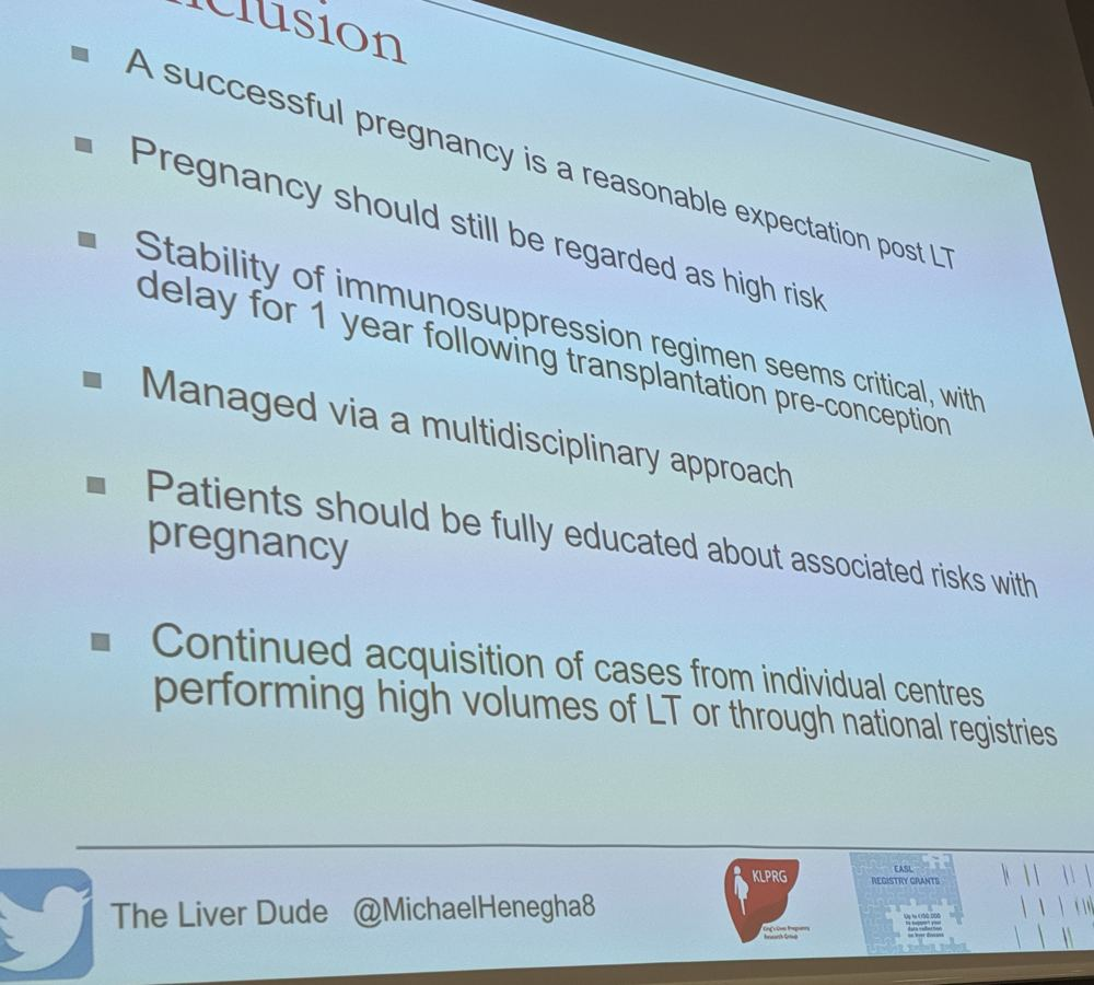 Dr Michael Heneghan on pregnancy after liver transplantation