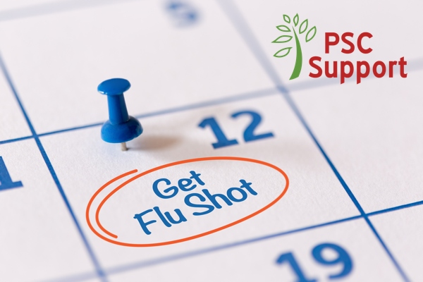 Flu vaccination for PSC