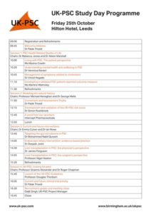 UK-PSC Study Day Programme