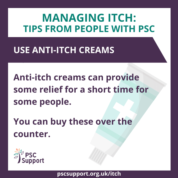 Use anti-itch creams