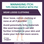 Itch Wear loose clothing
