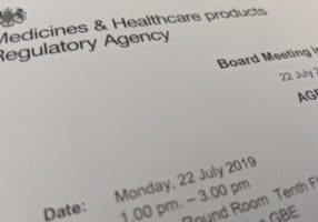 MHRA meeting 22 July 2019