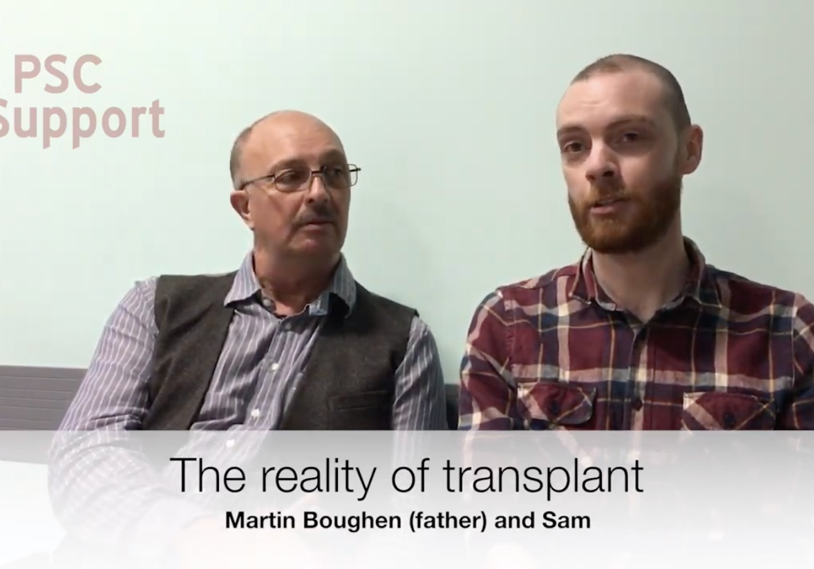 Father and son on living donor liver transplant