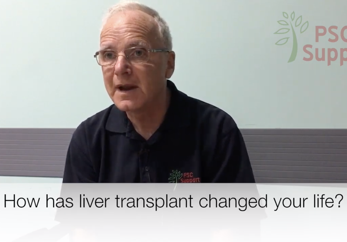 Keith talking about his liver transplant