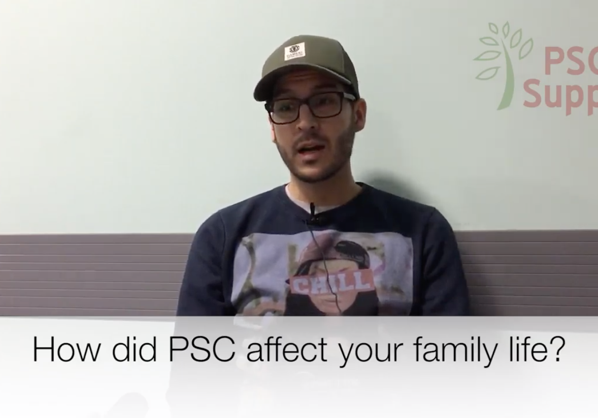 Impact of PSC on family life
